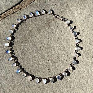 Stunning Queens Collar Necklace- 29 Moonstones!!!